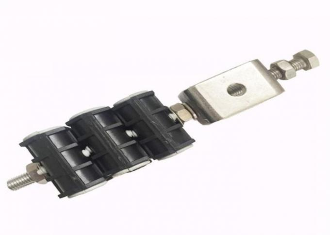 Power Double Holes Telecom Feeder Cable Clamp , Trade Assured Fiber Cable Clamp