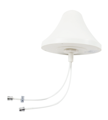 Indoor H / V Omni Directional Ceiling Antenna 2-4dbi Gain 698-2700mhz 2xN Female Connector