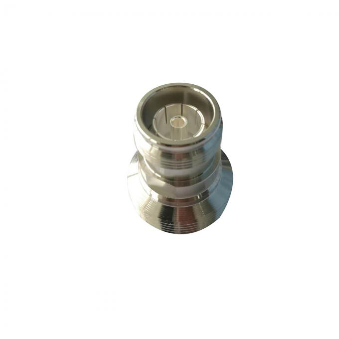 50 Ohm Electrical RF Coaxial Connectors 4.3-10 Female To Din 7/16 Straight Female Adapter