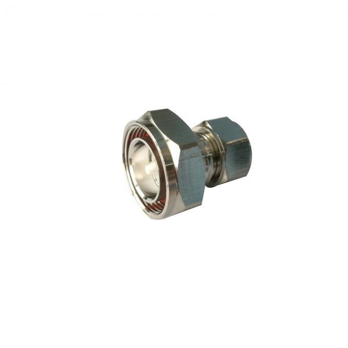 Mini Din 4.3-10 Male To Mini Din male RF Coaxial Connectors Adaptor Silver Plated
