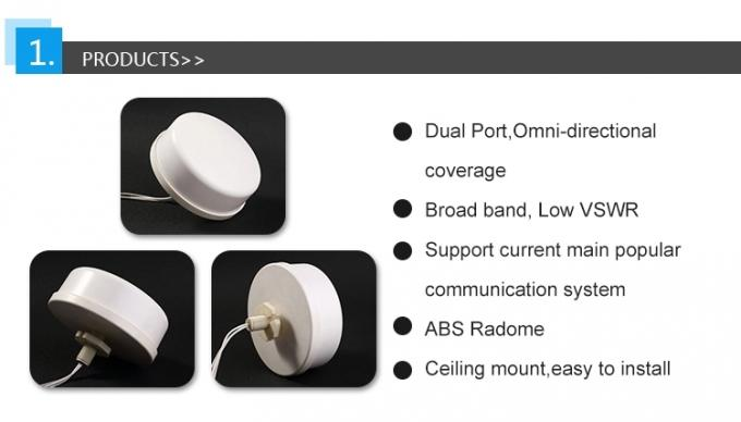 698-2700MHz 4g lte omni directional mimo antenna with 600mm RG316 coaxial cable SMA/N connector