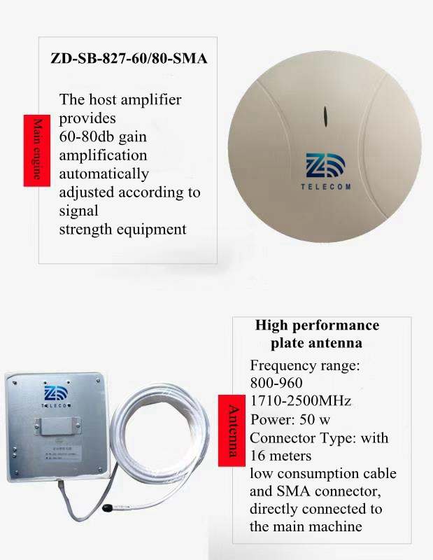 Mobile Signal Enhancement King 2G 3G 4G Indoor RF Repeater 800 - 2700MHz