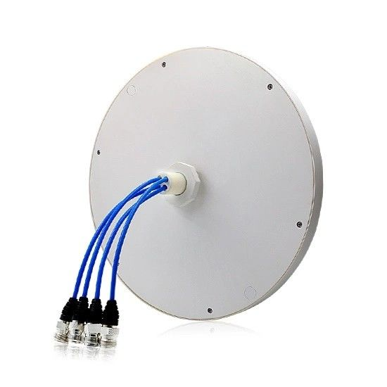2G 3G 4G Lte 4 Port Omni Directional Ceiling Antenna MIMO Wideband 698 - 2700MHz