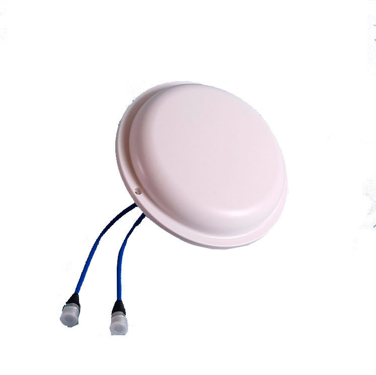 698-2700MHz Ceiling Flat High Gain Directional Cellular Antenna Double Port MIMO Omni Directional