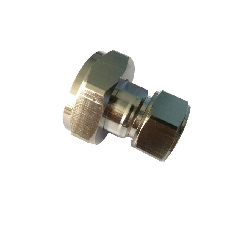 Rf coaxial connector Mini Din 4.3-10 straight male to 7/16 Din Male  Adaptor supplier