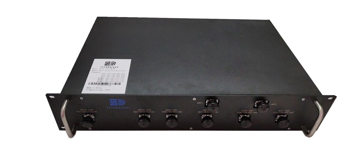 RF DCS / UMTS 6 In 2 Out Poi Telecom Combiner N / Din Connector VSWR ≤1.3