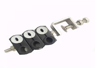 China Power Double Holes Telecom Feeder Cable Clamp , Trade Assured Fiber Cable Clamp factory