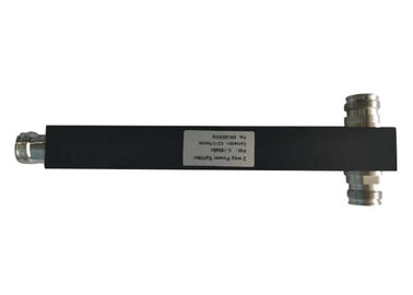 China 698-3800MHz Black Square 4.3-10 Mini Din Female 2 Way Power Divider Splitter factory