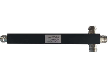China 698-3800MHz Black Square 4.3-10 Mini Din Female 3 Way Power Divider Splitter factory
