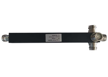 China 698-3800MHz Black Square 4.3-10 Mini Din Female 4 Way Power Divider Splitter factory