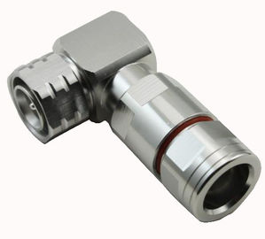 China MINI DIN type rf coaxial connector 4.3/10 Male Right Angle For 1/2'' flexible cable factory