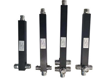 China 698-3800MHz Black Square 4.3/10 Mini Din Female  2/3/4 Way RF Power Divider Splitter factory