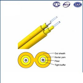 China 0.9mm Tight Buffer Fiber Optic Cable For Indoor Use Simplex GJFJV factory