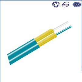 China Indoor Armored Fiber Optic Cable Aramid Fiber Figure 8 OM1 OM2 OM3 factory