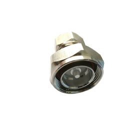Male To Mini Din 4.3-10 RF Coaxial Connectors Adaptor Silver Plated