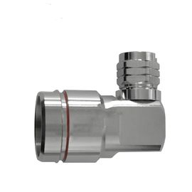 "China N Male Right Angle Rf Coaxial Connector For 7/8"" Coaxial Feeder Cable factory"